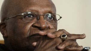 Archbishop Desmond Tutu pictured on 6 November 2012 in Johannesburg, South Africa