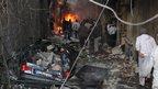 Aftermath of car bomb blasts in Jaramana (28 November 2012)