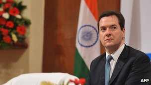 George Osborne on a visit to India in 2010