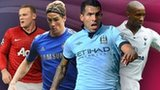 Right to left: Wayne Rooney. Fernando Torres, Carlos Tevez, Jermain Defoe