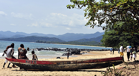 Tokeh beach near Freetown