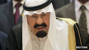 Saudi Arabia's King Abdullah. 14 Aug 2012