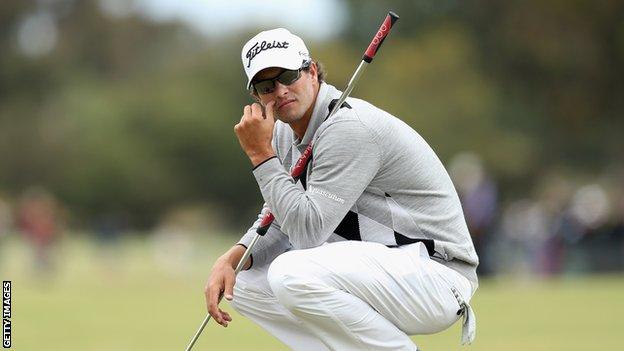 Australian golfer Adam Scott