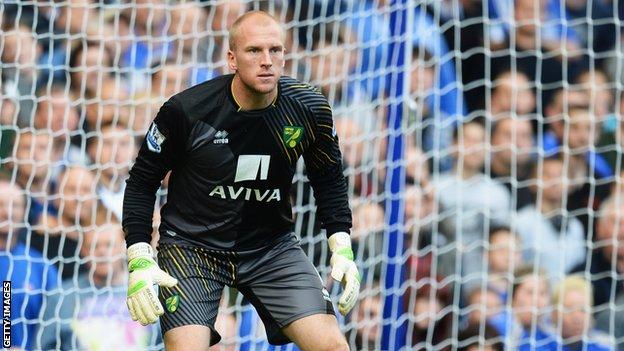 Norwich goalkeeper John Ruddy