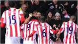 Stoke celebrate their winner