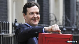 Osborne with Budget bag