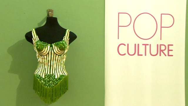 Madonna's Jean Paul Gaultier corset on display