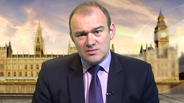 Energy Secretary Ed Davey