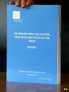 Cover of the Leveson report