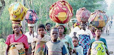 Refugees in Burundi in 1993