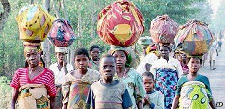 Refugees in Burundi in 1993