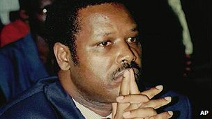 Burundian coup leader Pierre Buyoya