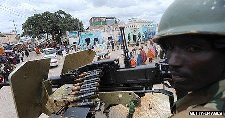 Burundian soldier serving in Somalia