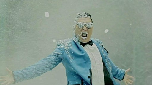A shot from Gangnam Style video
