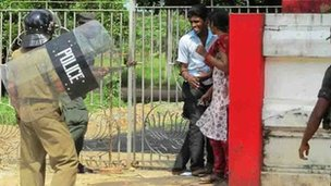 Sri Lanka protest at Jaffna University -  picture taken 28 November