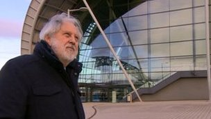 Lord Puttnam outside Sage Gateshead