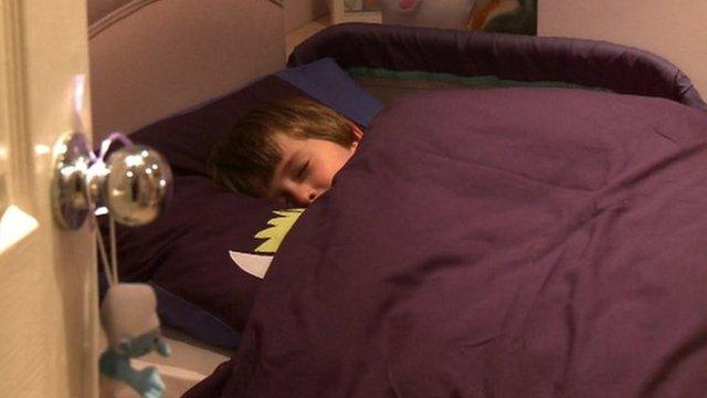 Kian in bed