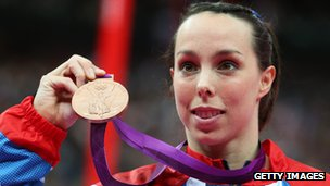 Beth Tweddle with her Olympic bronze medal