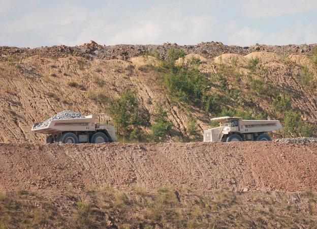 Monywa Mine Trucks