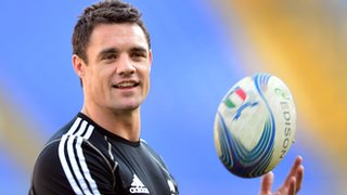 Dan Carter pictured during a training session