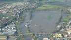 Worcester Racecourse at Pitchcroft flooded in November 2012