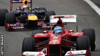 Sebastian Vettel and Fernando Alonso