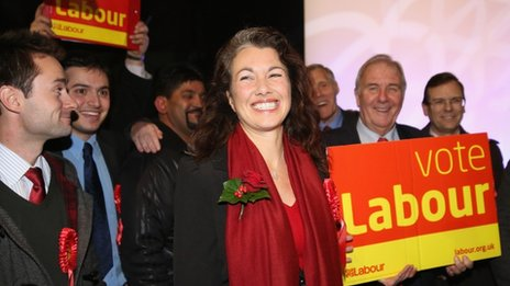 Sarah Champion and supporters