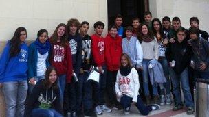 Collegi Sagrada Familia in Spain, twinned with Shawlands Academy in Glasgow