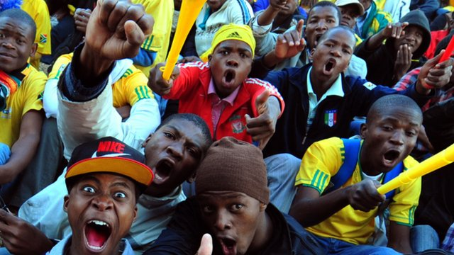 Fans at the 2010 World Cup