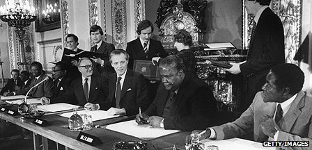 Signing of Lancaster House agreement