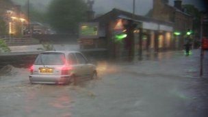 Summer flooding in the Calder Valley