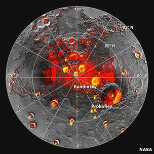 Messenger neutron and Arecibo radio data at Mercury's pole