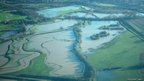 Flooding in Northamptonshire fields