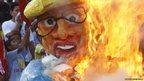 Philippine President Benigno Aquino's effigy