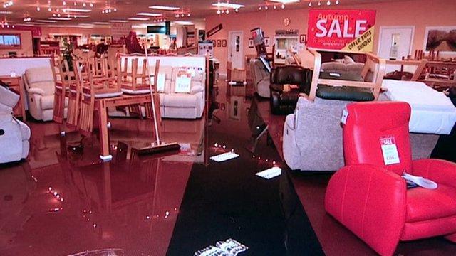 Flooded shop