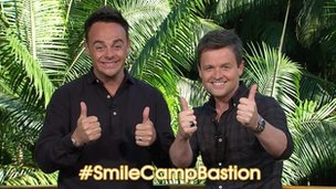 Ant and Dec show their support for #smilecampbastion