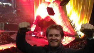 Nico Rosberg watching The Rolling Stones in London