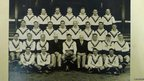 The Great Britain rugby league team photograph