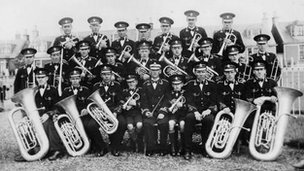 Coalburn Brass Band in 1930s
