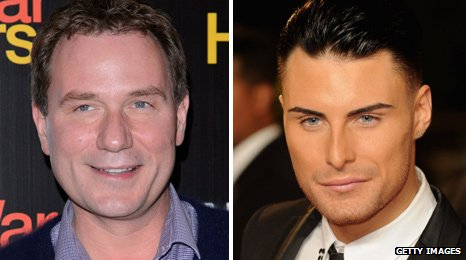 Richard Arnold and Rylan Clark