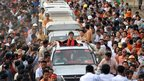 Aung San Suu Kyi in crowd