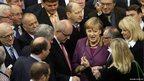 Angela Merkel casts her vote