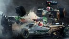Michael Schumacher crashes out of the 2012 Abu Dhabi GP