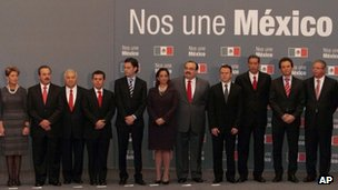 Members of Mexico's new cabinet (30 Nov 2012)