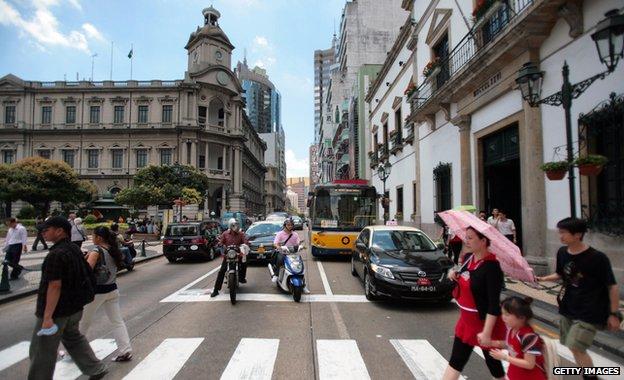 Street scene in Macau