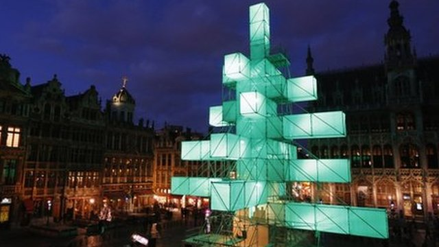 The Christmas tree in Brussels city centre