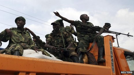 M23 rebels leave Goma in eastern DR Congo, 1 Dec