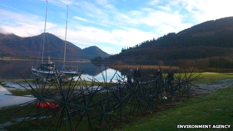 Artificial reefs on Bassenthwaite Lake
