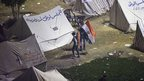 Opponents of Egyptian President Mohammed Morsi camped in  Tahrir Square, 1 December