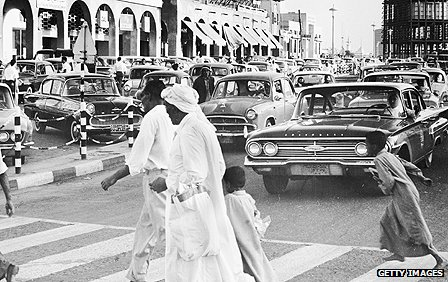 Street scene in Kuwait City in 1956